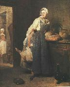 jean-Baptiste-Simeon Chardin Return from the Market oil painting reproduction