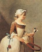 Young Girl with a Shuttlecock