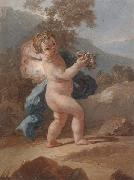 unknow artist Putti in a landscape oil painting reproduction