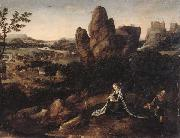 A landscape with the rest on the Flight into egypt, unknow artist