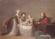A group portrait,reputed to be the singer elleviou and his family, unknow artist