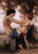 Girl Defending Herself Against Love, Adolphe William Bouguereau