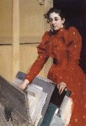 Emma Zorn in the Paris Studio, Anders Zorn