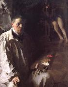 Sailvportratt med modell(Self-portrait with a model), Anders Zorn