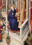 The Annunciation (detail), BROEDERLAM, Melchior