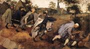 BRUEGEL, Pieter the Elder Parable of the Blind Leading the Blind oil painting reproduction
