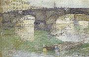 Childe Hassam Ponte Santa Trinita,Florence oil painting on canvas