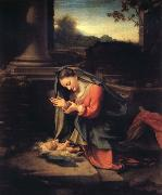 Correggio Madonna worshipping the Child