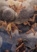 Assumption of the Virgin,details with Eve,angels,and putti, Correggio
