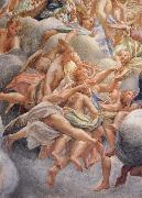 Correggio Assumption of the Virgin,details with angels bearing musical instruments oil painting reproduction
