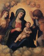 Madonna and Child with Angels playing Musical Instruments, Correggio