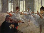 The Rehearsal, Edgar Degas