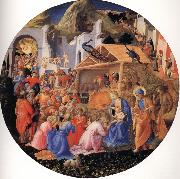Fra Filippo Lippi The Adoration of the Magi oil painting reproduction