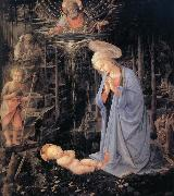 Fra Filippo Lippi The Adoration of the Infant Jesus