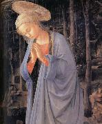 Fra Filippo Lippi Details of The Adoration of the Infant Jesus oil painting on canvas