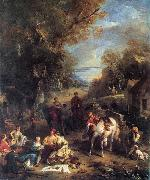 Francois Lemoyne Hunting Picnic oil painting reproduction