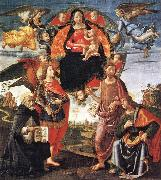 Madonna in Glory with Saints, GHIRLANDAIO, Domenico