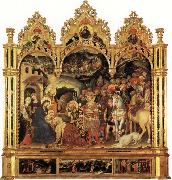 Gentile da Fabriano Adoration of the Magi and Other Scenes oil painting artist