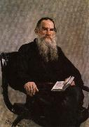 Ilya Repin Portrait of Leo Tolstoy oil painting