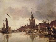 Johann Barthold Jongkind Vue d'Overshie oil painting reproduction