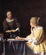 Mistress and maid, Johannes Vermeer