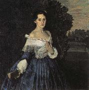 Konstantin Somov Lady in Blue oil painting artist