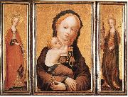 MASTER of Saint Veronica Triptych oil painting reproduction
