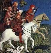 MASTER of the Polling Panels Prince Tassilo Rides to Hunting oil painting reproduction