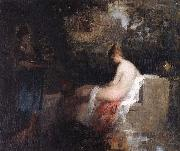 Nicolae Grigorescu After the Bath oil painting reproduction