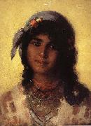 Nicolae Grigorescu Gypsy's Head oil painting reproduction