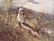 Peasant Woman Sitting in the Grass, Nicolae Grigorescu