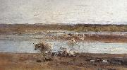 Herd by the River, Nicolae Grigorescu