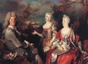 Nicolas de Largilliere The Artist and his Family oil painting