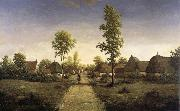 Pierre etienne theodore rousseau The village of becquigny oil painting