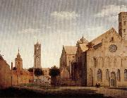 Pieter Jansz Saenredam St Mary's Square and St Mary's Church at Utrecht oil painting