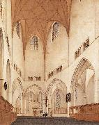 Interior of the Choir of St Bavo at Haarlem