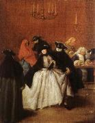Pietro Longhi Masks in the Foyer oil painting
