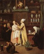 Pietro Longhi The Spice-Vendor's Shop oil painting
