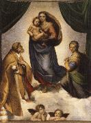 Raphael The Sistine Madonna oil painting reproduction
