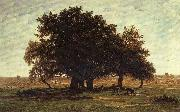Theodore Roussel Oak Trees near Apremont oil painting