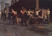 Thomas Anshutz The Ironworkers' Noontime oil painting