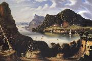 Thomas Chambers View of Cold Spring and Mount Taurus about 1850 oil painting