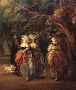 Details of The mall in St.James's Park, Thomas Gainsborough