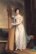 Thomas Sully Lady with a Harp:Eliza Ridgely oil painting