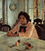 Valentin Aleksandrovich Serov Girl With Peaches oil painting