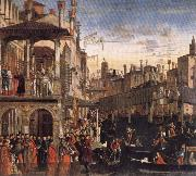 Vittore Carpaccio Cureof a Lunatic by the Patriarch of Grado oil painting reproduction