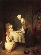 jean-Baptiste-Simeon Chardin Grace Before Dinner oil painting reproduction