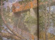 julian alden weir Le pont rouge oil painting on canvas