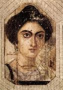 Funerary Portrait of Womane from El Fayum
