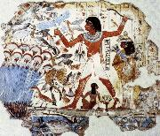 Fowling in the Marshes,from the Tomb of Nebamun